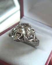 UNUSUAL Vintage Silver Lion or similar Ring  c.1960/70s   -  size U