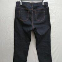 Lane Bryant Straight Leg High Rise Womens Jeans Plus Size 18 Long Dark Wash