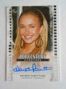 Hayden Panettiere 2010 Leaf Pop Centuries autograph auto card