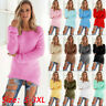Womens Warm Long Sleeve Sweater Ladies Sweatshirt Jumper Pullover Tops Blouse CH