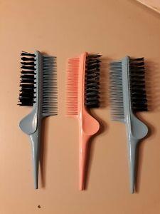 Vtg NOS Styling Hair Brush. Phillips Hair Brush Nylon Bristle Teazing Pink Blue