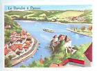 CARD 60s Germany Bavaria Danube à Passau
