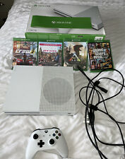 Microsoft Xbox One S 1TB Console - White Bundle 4 Games Far Cry GTA 5 Xmas