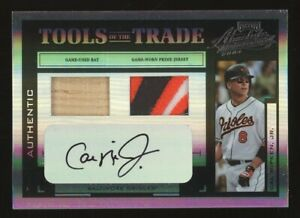 2004 Playoff Absolute TOTT Cal Ripken Jr. Orioles HOF Jersey Bat AUTO 1/1