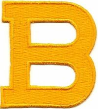 """1 7/8"""" Bright Yellow Monogram Block letter B Embroidery Patch"""