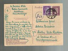 1944 Potsdam Germany Concentration Camp Postcard Cover Kielce Poland M Dziedsic