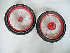 "16"" Front & Rear Steel Wheels from a 16"" Spider-Man 2 Bike with 16T Free Wheel"