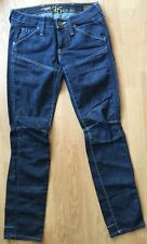 Womens G-Star 96 Elwood Heritage Narrow Raw Denim Dark Blue Size XS W25 L30