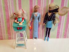 Vintage 1998 McDonalds Barbie Kelly little Dolls Figures Toys plastic happy meal