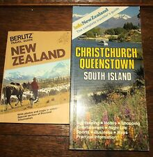 Berlitz Travel Guide New Zealand & 1989 Info Guide to Christchurch Photos Maps