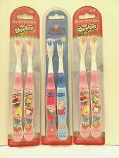 Set Of 6 Brush Buddies 3 2-packs Shopkins & Peppa Pig Kids Soft Toothbrush Lot