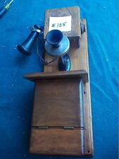 Original Vintage Wall Telephone wide black mouth, double  box (105)