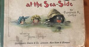 Golliwog At The Sea Side Florence K Upton Illustrated Book Excellent Condition