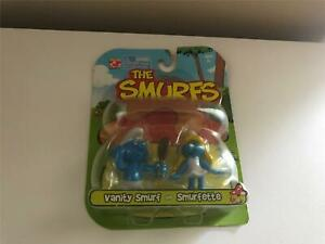 2008 Jakks Pacific The Smurfs 2-Pack Figure Set VANITY&SMURFETTE SEALED NEW