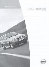 Preisliste Nissan Terrano 2004 Autopreisliste 1.6.04 price list Auto Pkw Preise