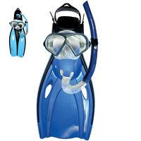 Mirage Mission Flipper Snorkel Mask Set Adult-TEAL Size S/M