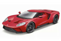 2017 FORD GT RED 1/18 SCALE DIECAST CAR MODEL BY MAISTO 31384