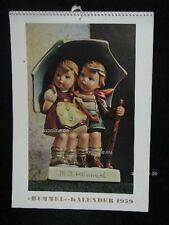"""Goebel Hummel calendrier calendar 1959, titre """"sous un même toit"""" 71"""