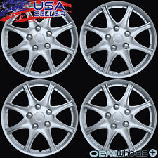 """4 NEW OEM SILVER 16"""" HUBCAPS FITS SAAB SUV 9-3 9-5 CENTER WAGON WHEEL COVER SET"""