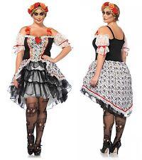 Day of the Dead Sugar Skull Dia de los Muertos Plus Size Costume 1X 2X 3X 4X