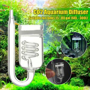 CO2 Aquarium Diffuser for 60~300L Plants Tank Atomizer Solenoid Regulator UK