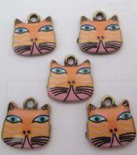 Hot sell ! 4PCS cat Pendant beaded Jewelry DIY Findings 17x17mm #8092