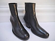 ANN DEMEULEMEESTER $1,200 black leather ankle boots booties size 39 WORN ONCE