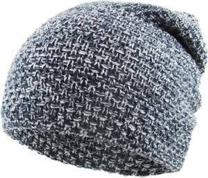 Baggy Waffle Knit Beanie Daily Skull Cap Winter Ski Hat Men Women Slouch