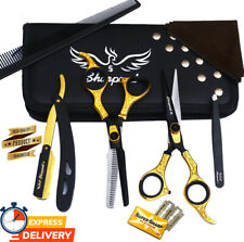 "Sharpend Barber Shears Salon Cutting Scissors and Thinning 6.5"" set/kit"