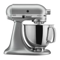 KitchenAid 5-Quart Artisan Tilt-Head Stand Mixer | Silver Metallic