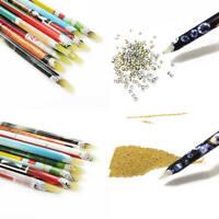 2pcs Nail Art Wax Pen Rhinestone Picker Tools Beauty For Tool Up Pick Crystal
