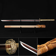 Ninja Sword, Full Tang Sharp Handmade Japanese Samurai Sword Double Edge Sharpen