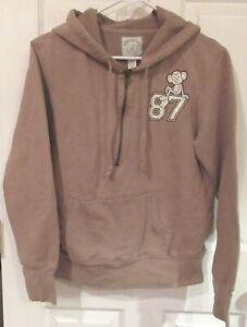 PS AEROPOSTALE Kids~BROWN HOODIE Logo JACKET~sz LARGE 12~NEW Half ZIP Sweatshirt