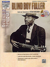 Early Masters Of American Blues Guitar Blind Boy Fuller Play TAB Music Book & CD