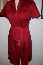 banana republic stretch 4 shirt dress dark red euc sateen cotton