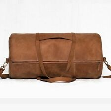 Real Pure Leather Travelling Handmade Gym Bag Luggage Overnight Duffle Bag