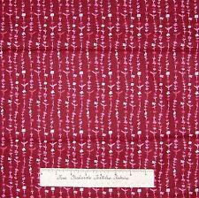 "Floral Fabric - Cherise & Light Pink Flower Stripe - Lyndhurst Studio LAST 16"""