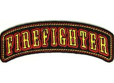 "(G18) FIREFIGHTER 3.75"" x 1.5"" iron on rocker patch (4204)"