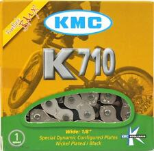 "KMC K710 Kool Chain 1/2"" x 1/8"" 9.5mm Freestyle BMX Bike 110L Silver & Black"