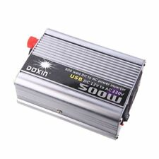 DOXIN 500W (max) WATT DC 12V to 220V portable AC car Inverter Charger conve G6Q6
