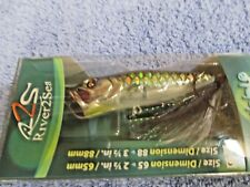 """New River2Sea BUBBLE POPPER Funky Tiger 65MM 2.5"""" BAIT LURE Topwater FUNKY TIGER"""