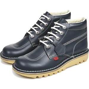 Kickers Classic Kick Hi M Mens Boots Blue Leather Ankle Shoes Size 6-11