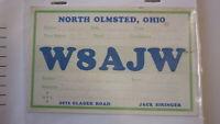 OLD VINTAGE QSL HAM RADIO CARD POSTCARD, NORTH OLMSTED OHIO 1966