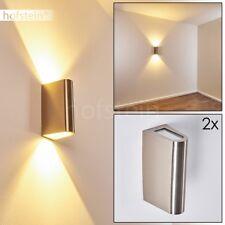 2er Set LED Wand Lampen Design Hof Aussen Garten Veranda Terrassen Beleuchtung