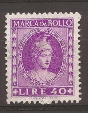 1959 REPUBBLICA MARCA DA L. 40 ANNULLATA CON TIMBRO A DATA PERFETTA