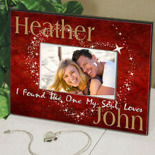 Personalized Couples Valentines Day Picture Frame I Found The One My Soul Loves
