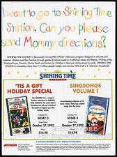 SHINING TIME STATION__Original 1992 Trade print AD promo__THOMAS THE TANK ENGINE
