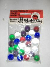 New old stock Marble King 25 count Puries MARBLES in Original  1 shooter + 24