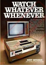 SONY BETAMAX Wall Poster (24 x 36 inch) Vintage Retro Promo Video Game 001