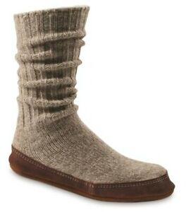 Men's Size 12-13 Acorn Ragg Wool Slipper Socks.